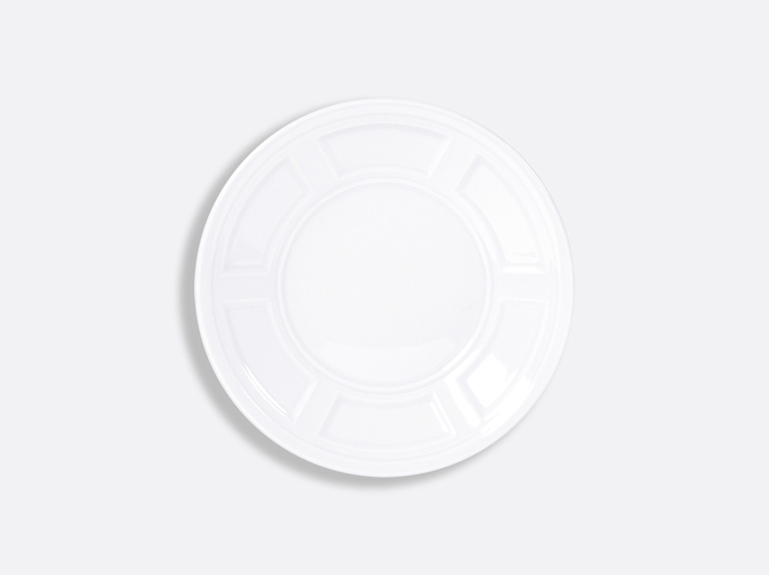 Assiette plate 16 cm en porcelaine de la collection ATHOS BLANC Bernardaud