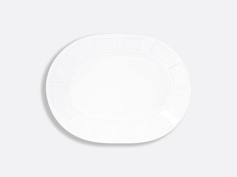 China Oval plate 33 cm of the collection Athos blanc | Bernardaud