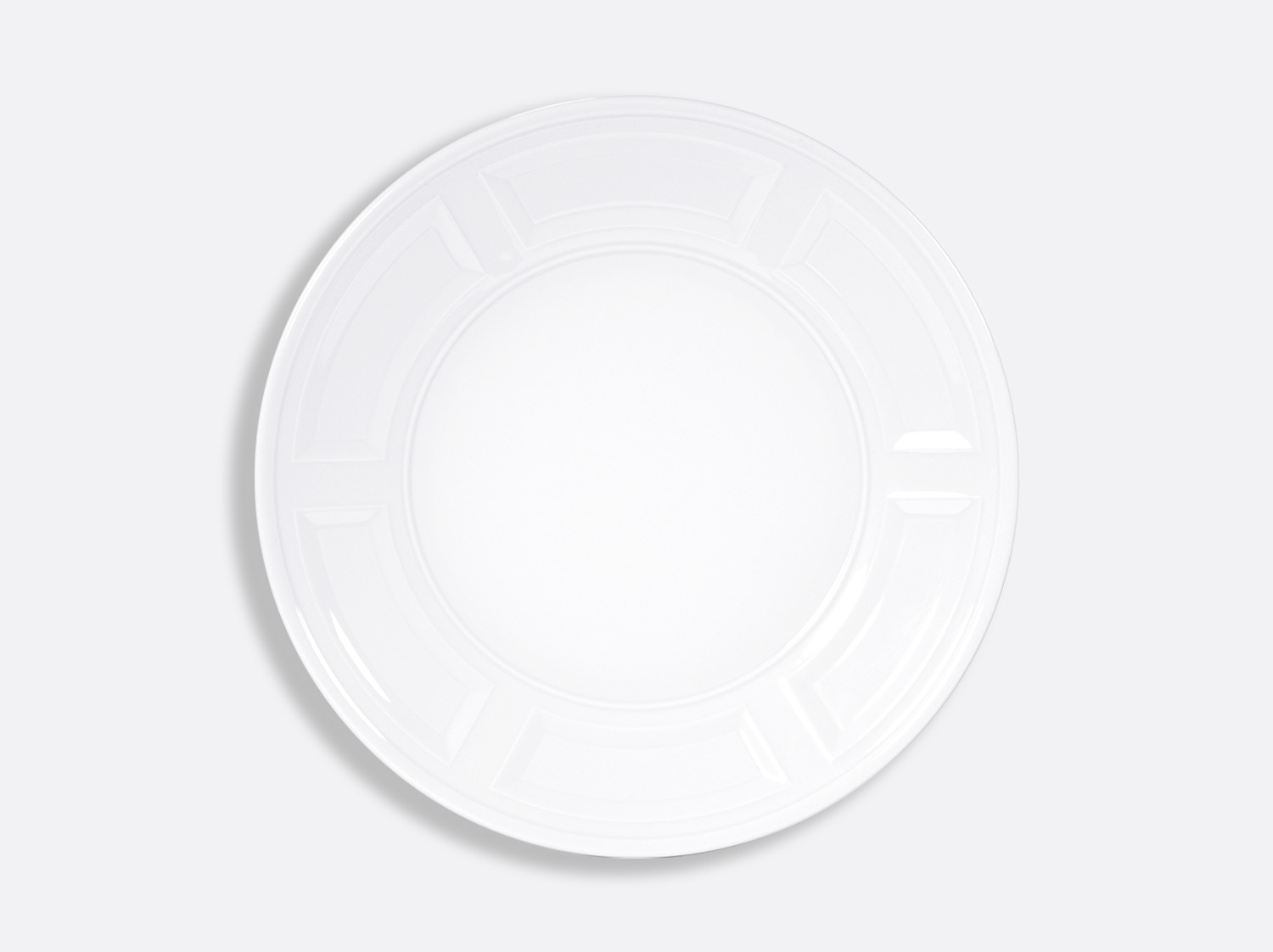 Assiette plate 29,5 cm en porcelaine de la collection ATHOS BLANC Bernardaud