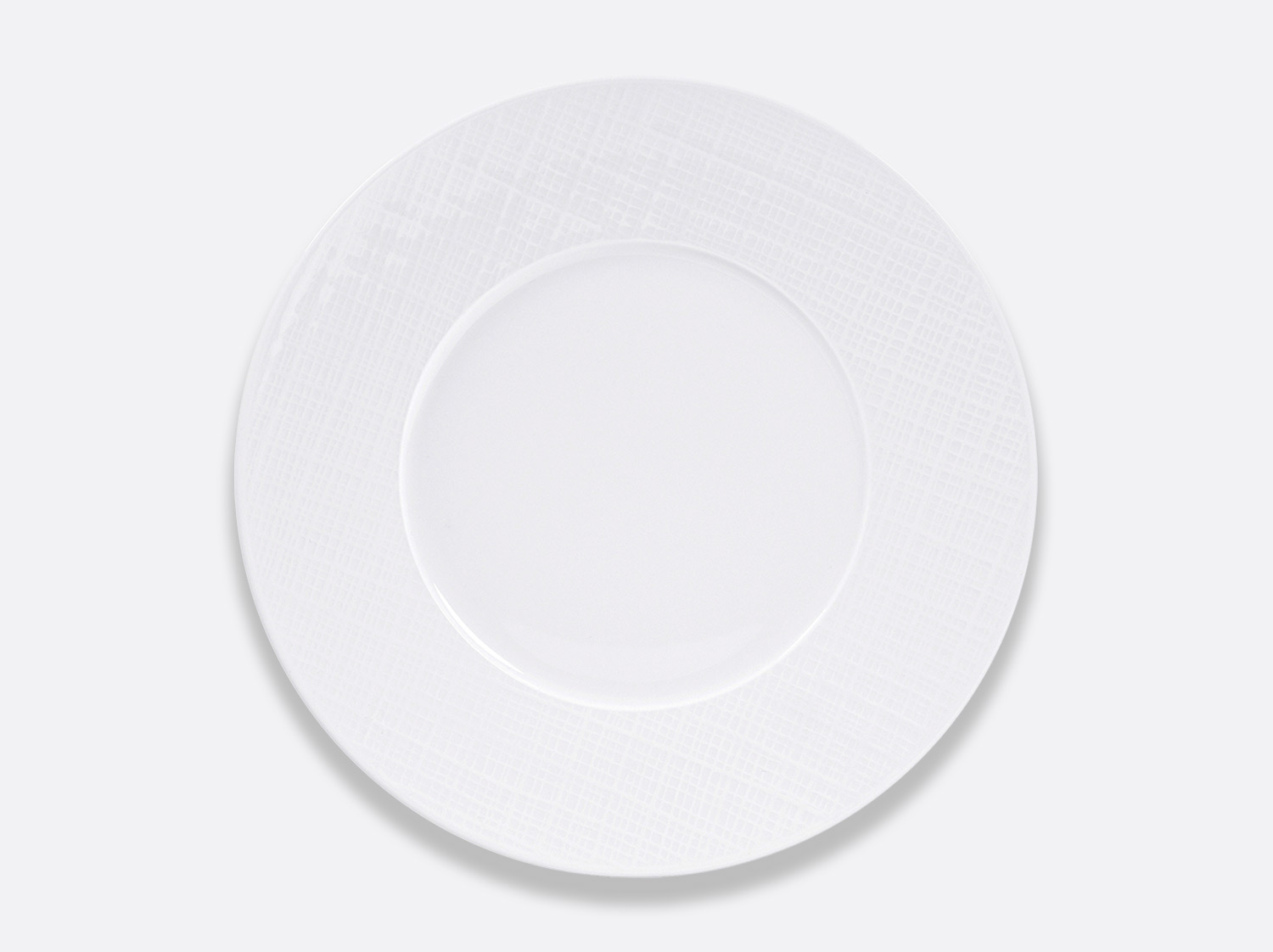Assiette plate 29,5 cm en porcelaine de la collection ORGANZA BLANC Bernardaud