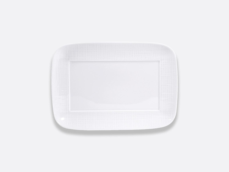 Assiette rectangulaire 27 x 18,5 cm en porcelaine de la collection ORGANZA BLANC Bernardaud