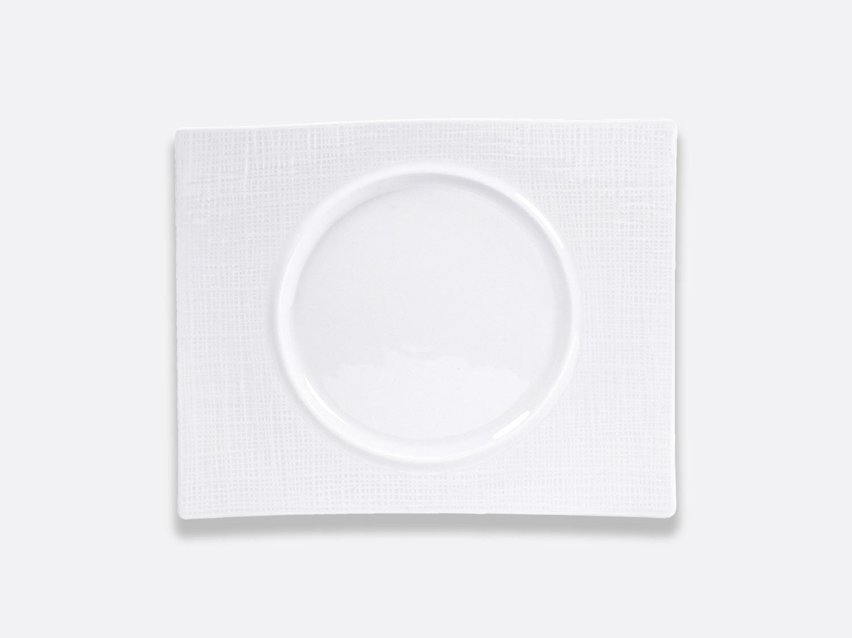 Assiette rectangulaire 30,5 x 24,5 cm en porcelaine de la collection ORGANZA BLANC Bernardaud