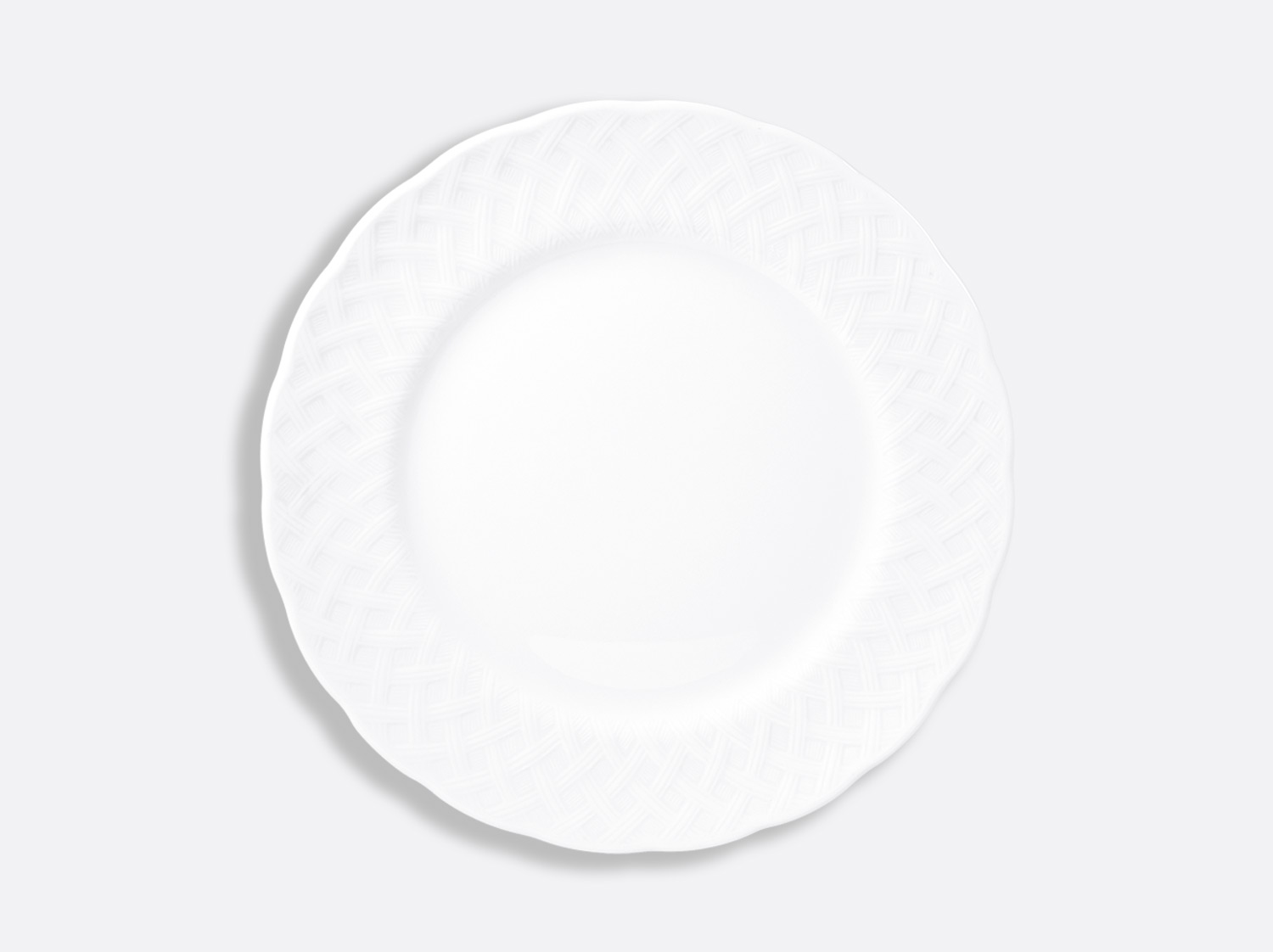 Assiette plate 26 cm en porcelaine de la collection OSIER BLANC Bernardaud