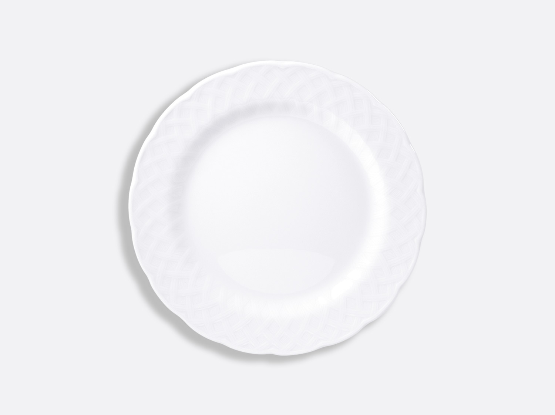 Assiette plate 21 cm en porcelaine de la collection OSIER BLANC Bernardaud