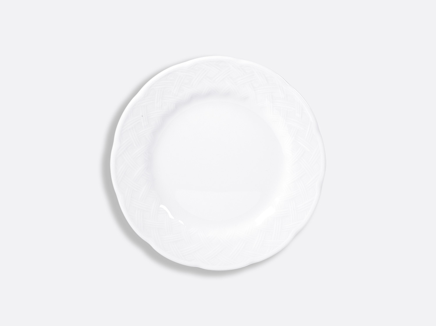 Assiette plate 16 cm en porcelaine de la collection OSIER BLANC Bernardaud