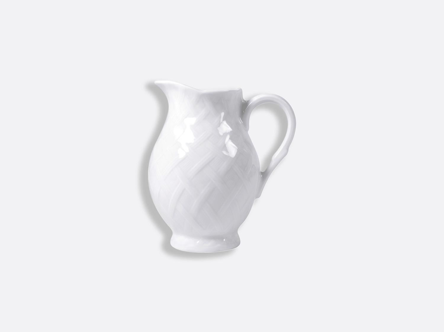 Crémier 35 cl en porcelaine de la collection OSIER BLANC Bernardaud
