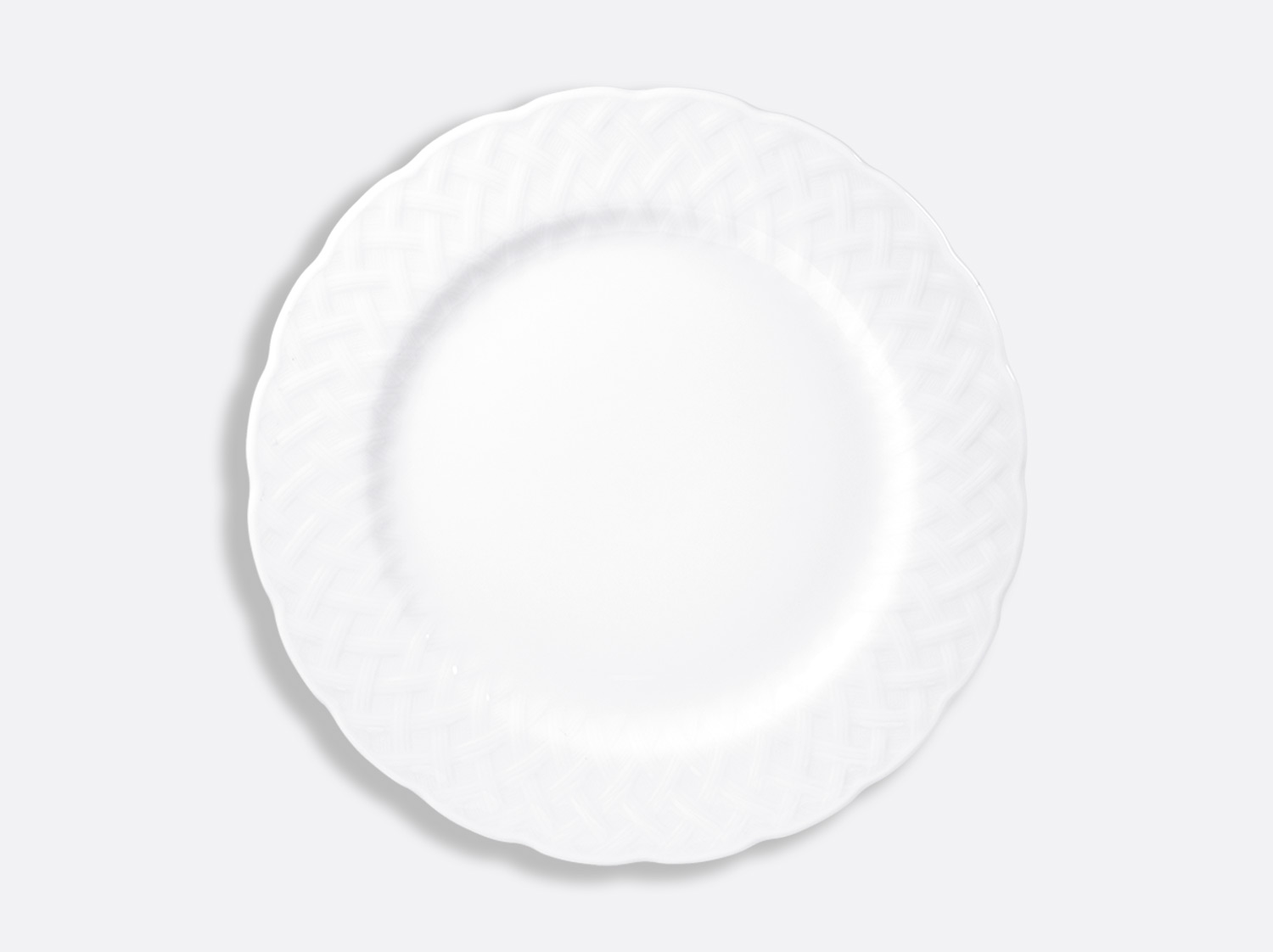 China Plate 29.5 cm of the collection Osier blanc | Bernardaud
