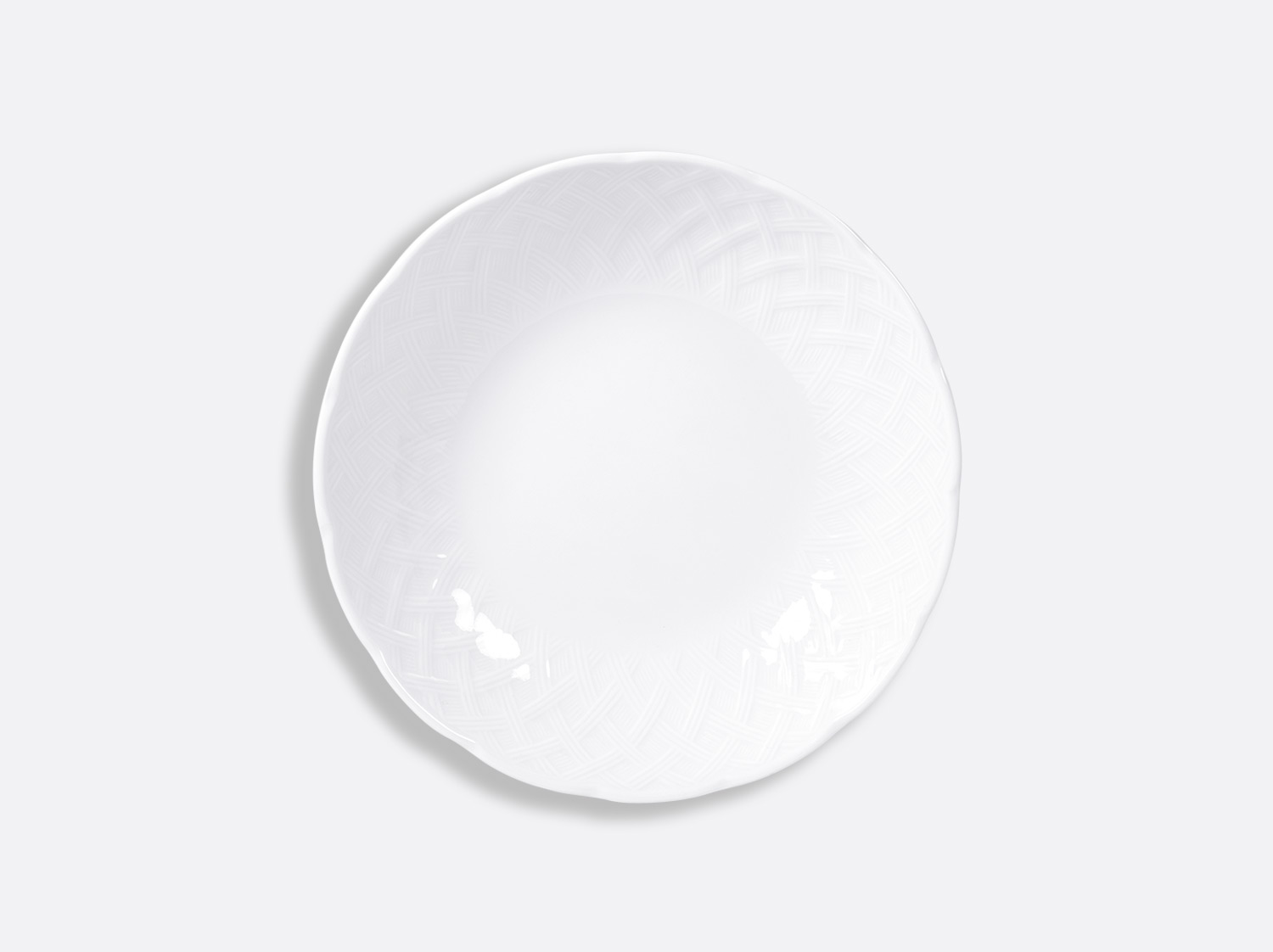 """China Coupe soup 7.3"""" of the collection Osier blanc 