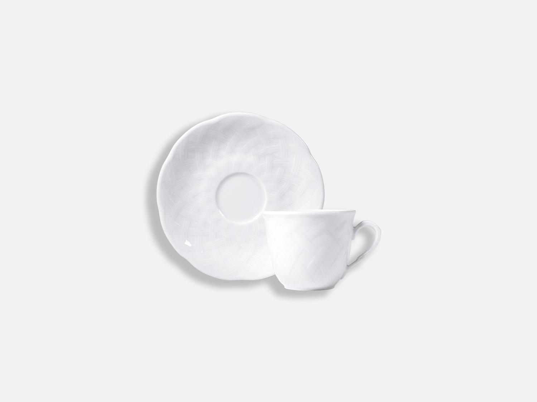 Tasse et soucoupe café 10 cl en porcelaine de la collection OSIER BLANC Bernardaud