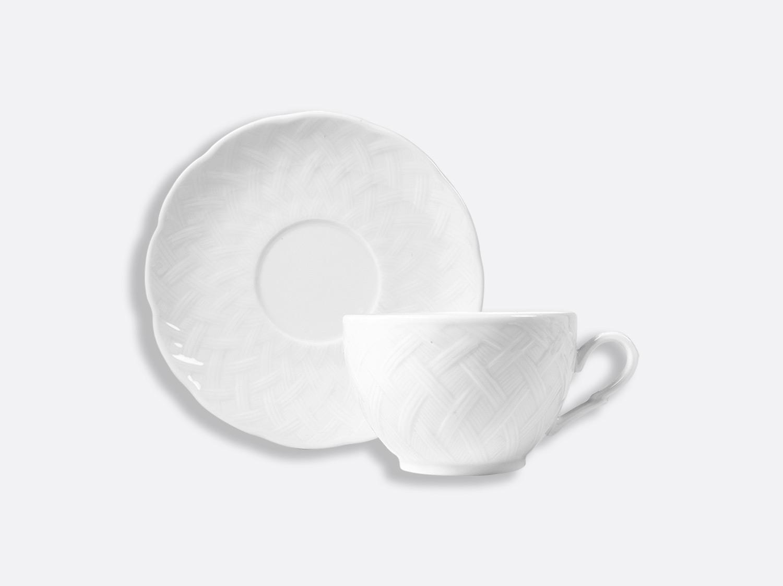 Tasse et soucoupe déjeuner 25 cl en porcelaine de la collection OSIER BLANC Bernardaud