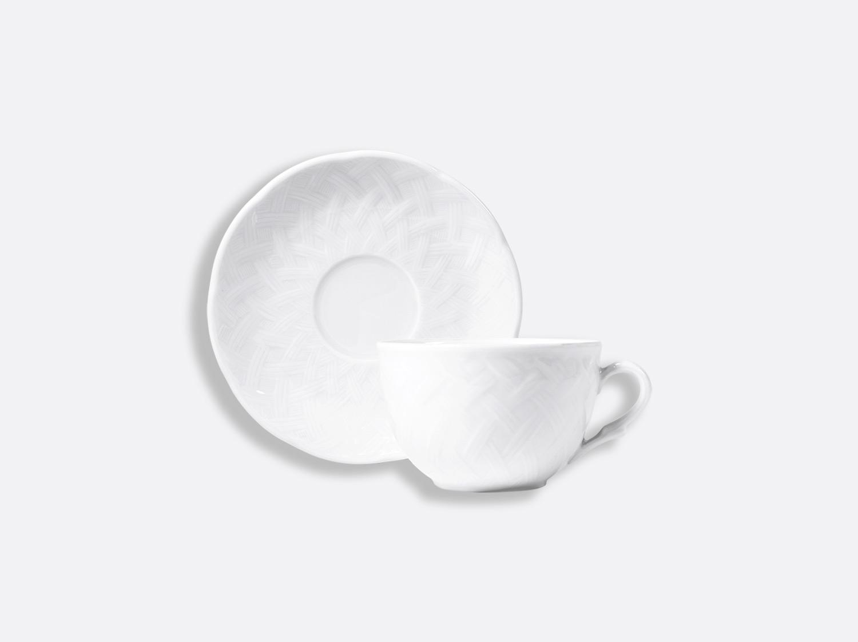 Tasse et soucoupe thé 17 cl en porcelaine de la collection OSIER BLANC Bernardaud
