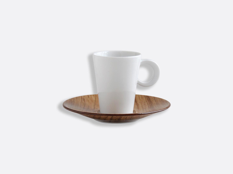 Tasse et soucoupe café 6 cl en porcelaine de la collection Bois Clair Bernardaud