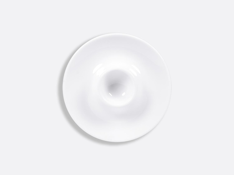 Coquetier plat 13,5 cm en porcelaine de la collection PROVENCE BLANC Bernardaud