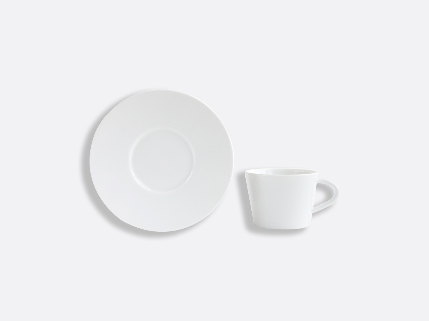 Tasse et soucoupe café 6 cl en porcelaine de la collection ASTRE BLANC Bernardaud