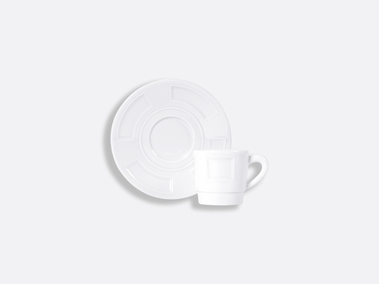 Tasse et soucoupe café empilable 8 cl en porcelaine de la collection ATHOS BLANC Bernardaud