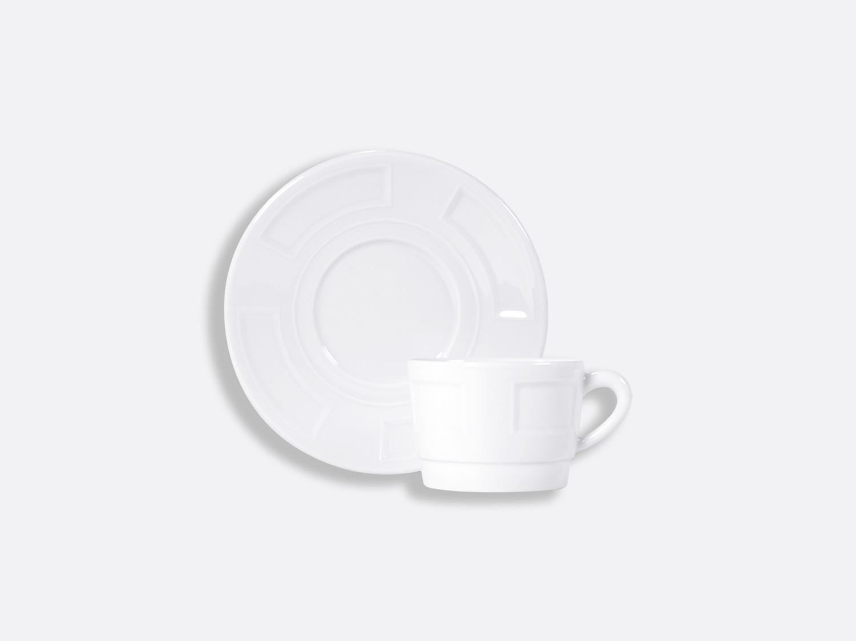 Tasse et soucoupe thé empilable 15 cl en porcelaine de la collection ATHOS BLANC Bernardaud