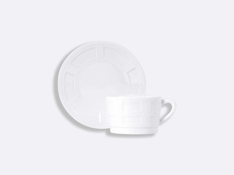 Tasse et soucoupe déjeuner empilable 25 cl en porcelaine de la collection ATHOS BLANC Bernardaud
