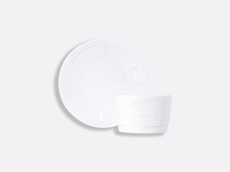 Bol et soucoupe bouillon sans anse empilable 25 cl en porcelaine de la collection ATHOS BLANC Bernardaud