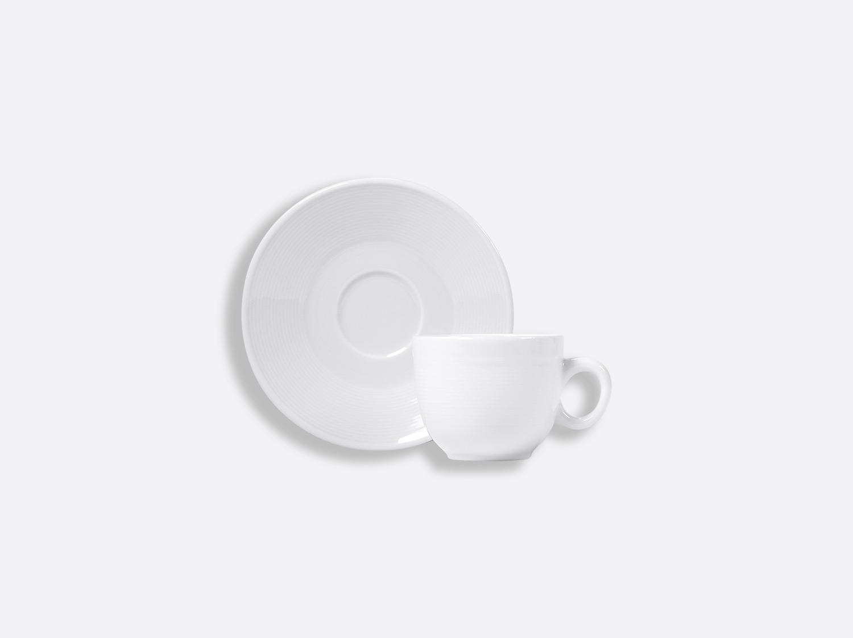 Tasse et soucoupe café 10 cl en porcelaine de la collection ATLANTIDE BLANC Bernardaud