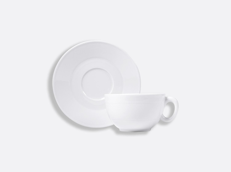 Tasse et soucoupe thé 18 cl en porcelaine de la collection ATLANTIDE BLANC Bernardaud