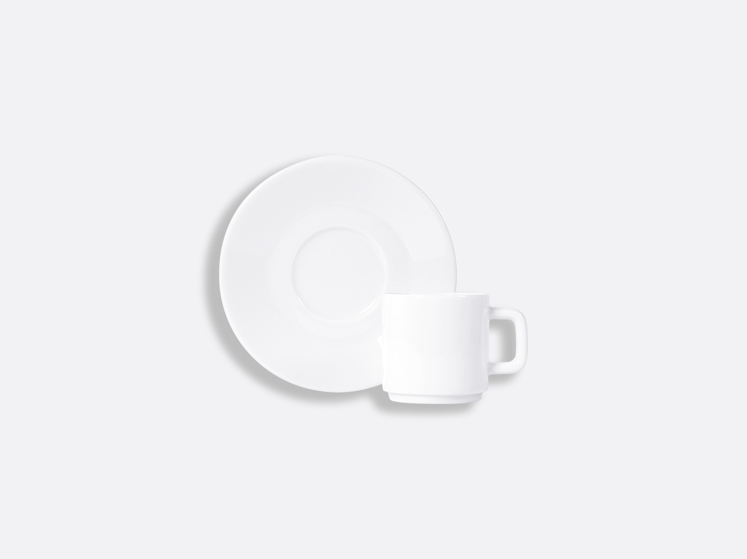 China Stackable espresso cup and saucer 3.5 oz of the collection BIARRITZ | Bernardaud