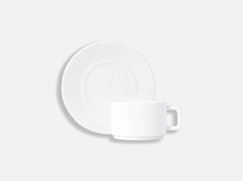 Tasse et soucoupe thé empilable 15 cl en porcelaine de la collection BIARRITZ Bernardaud