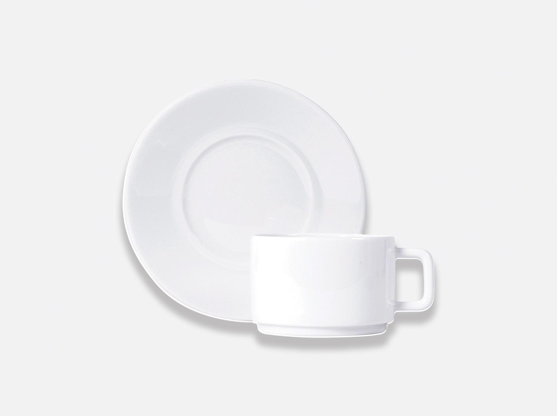 Tasse et soucoupe déjeuner empilable 25 cl en porcelaine de la collection BIARRITZ Bernardaud