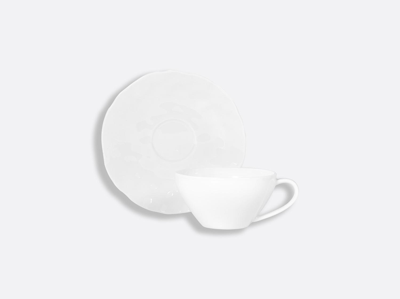 Tasse et soucoupe thé 15 cl en porcelaine de la collection Digital Bernardaud