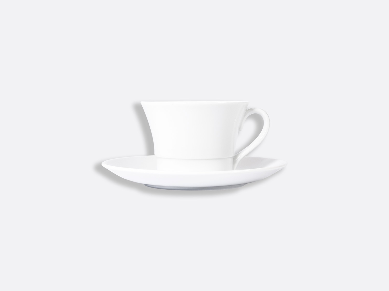 Tasse et soucoupe thé Shogun 20 cl en porcelaine de la collection FUSION BLANC Bernardaud