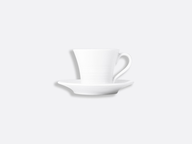 China Shogun Coffee cup and saucer 7 cl of the collection Fusion blanc | Bernardaud