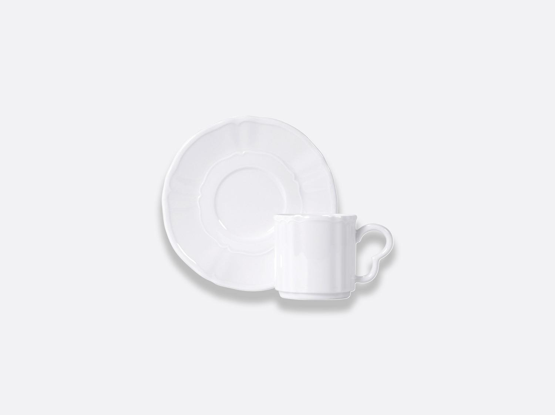 Tasse et soucoupe café empilable 8 cl en porcelaine de la collection L.15 BLANC Bernardaud