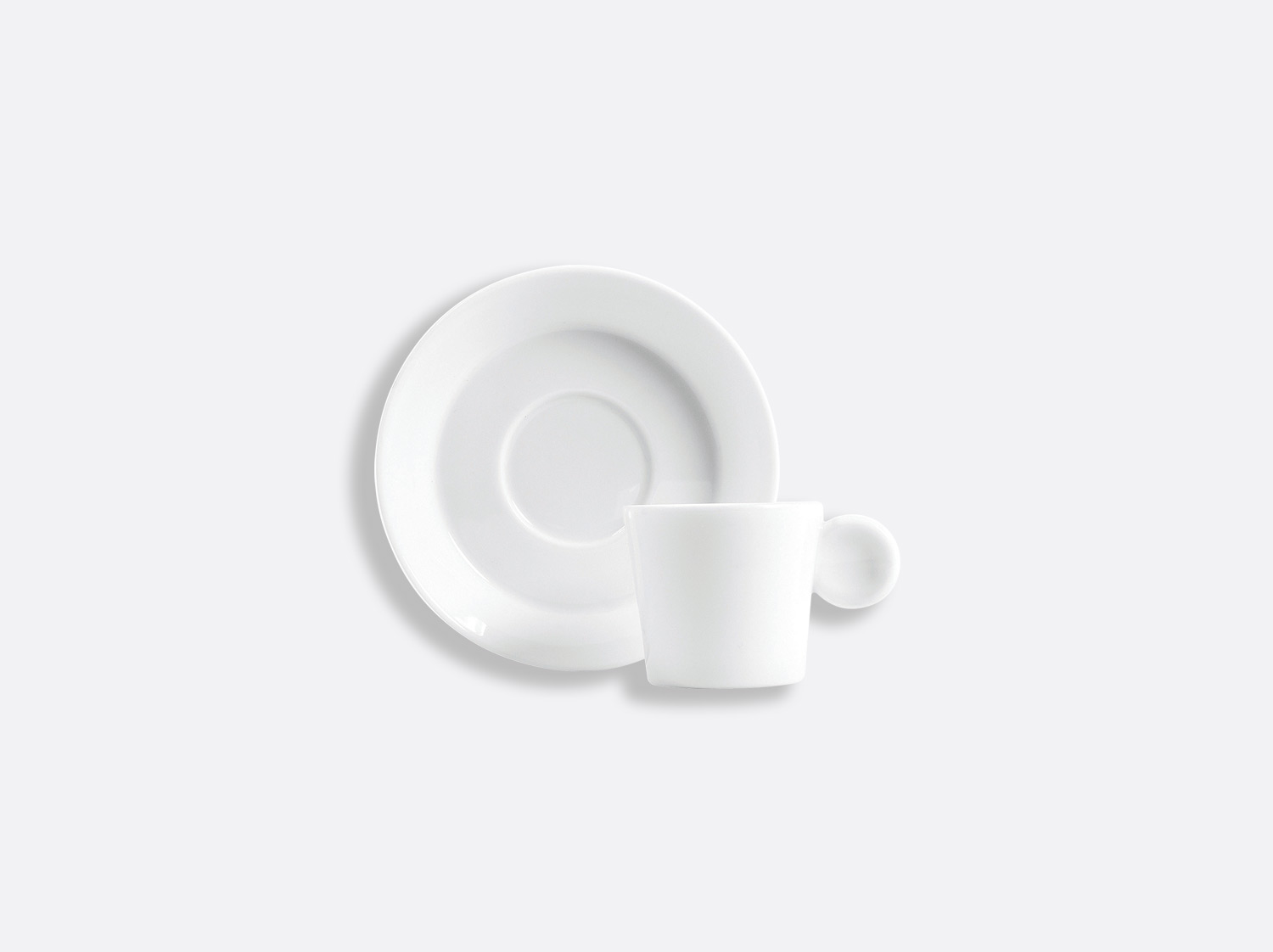 China Irazu coffee cup and saucer 4 cl of the collection Fantaisies blanches | Bernardaud