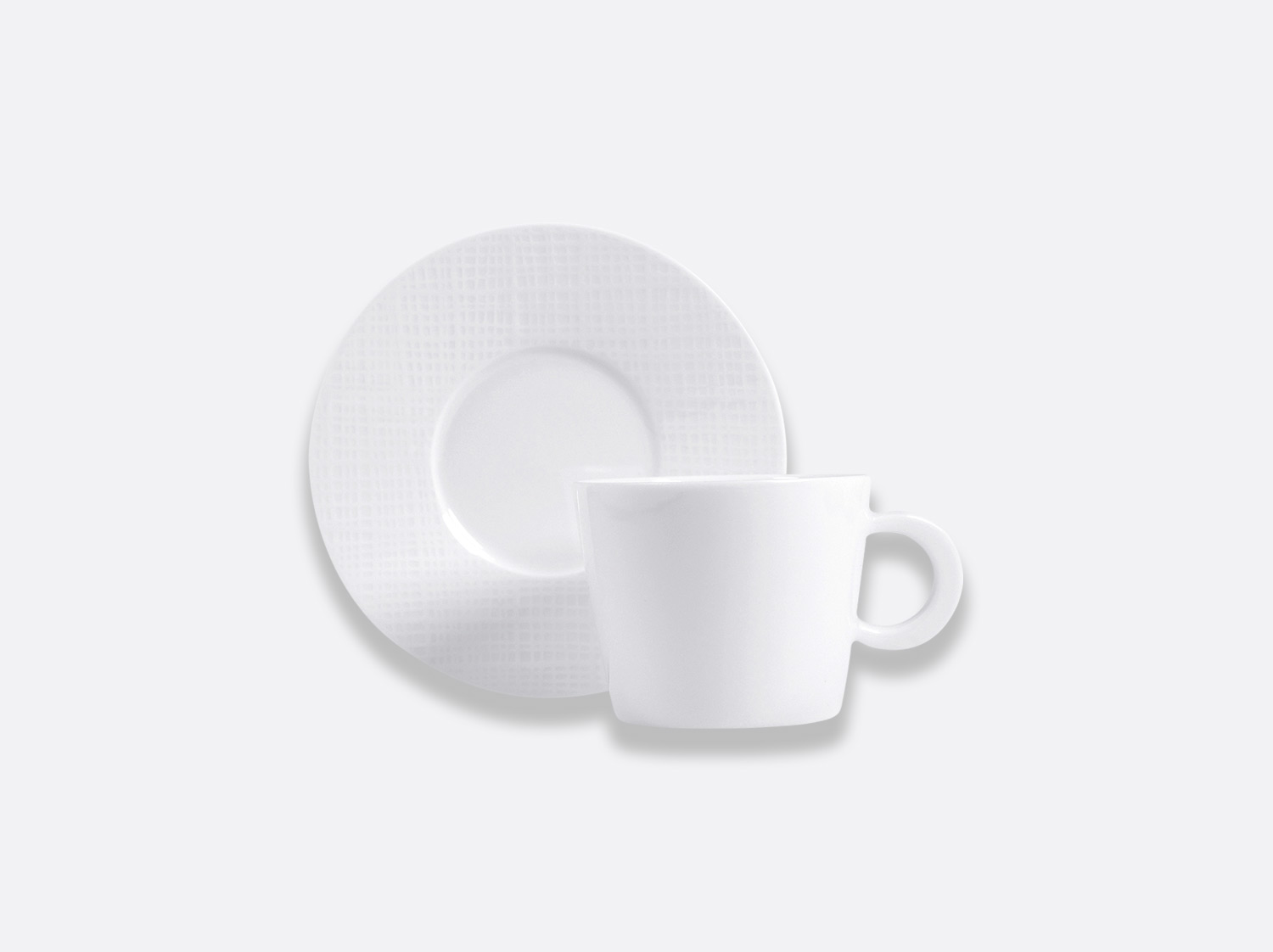 China Breakfast cup and saucer 27 cl of the collection Organza blanc | Bernardaud