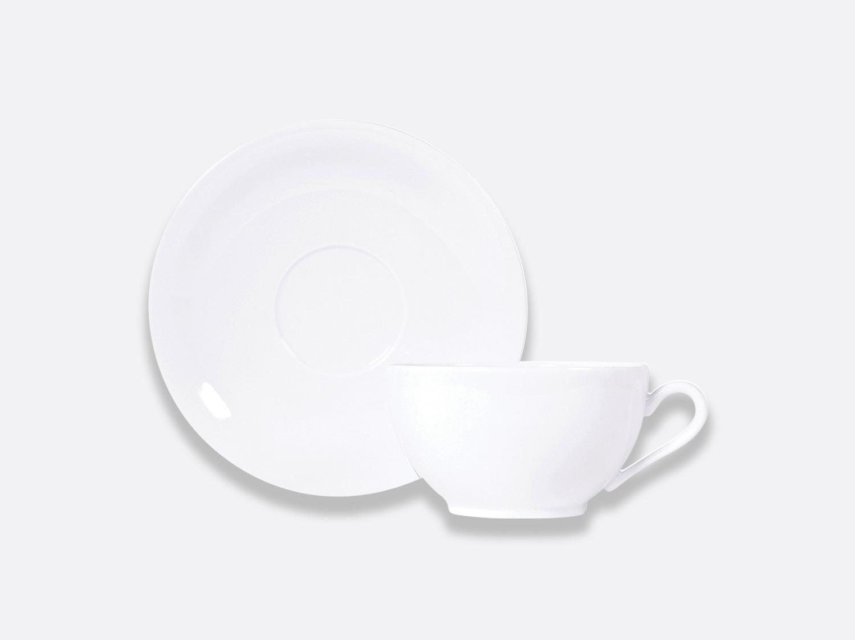 Tasse et soucoupe déjeuner Boule 30 cl en porcelaine de la collection BOULE BLANC Bernardaud