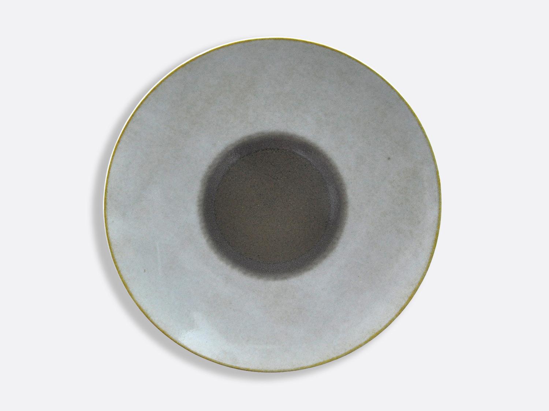 Plat rond creux Taupe 29,5 cm en porcelaine de la collection IRIS TAUPE Bernardaud