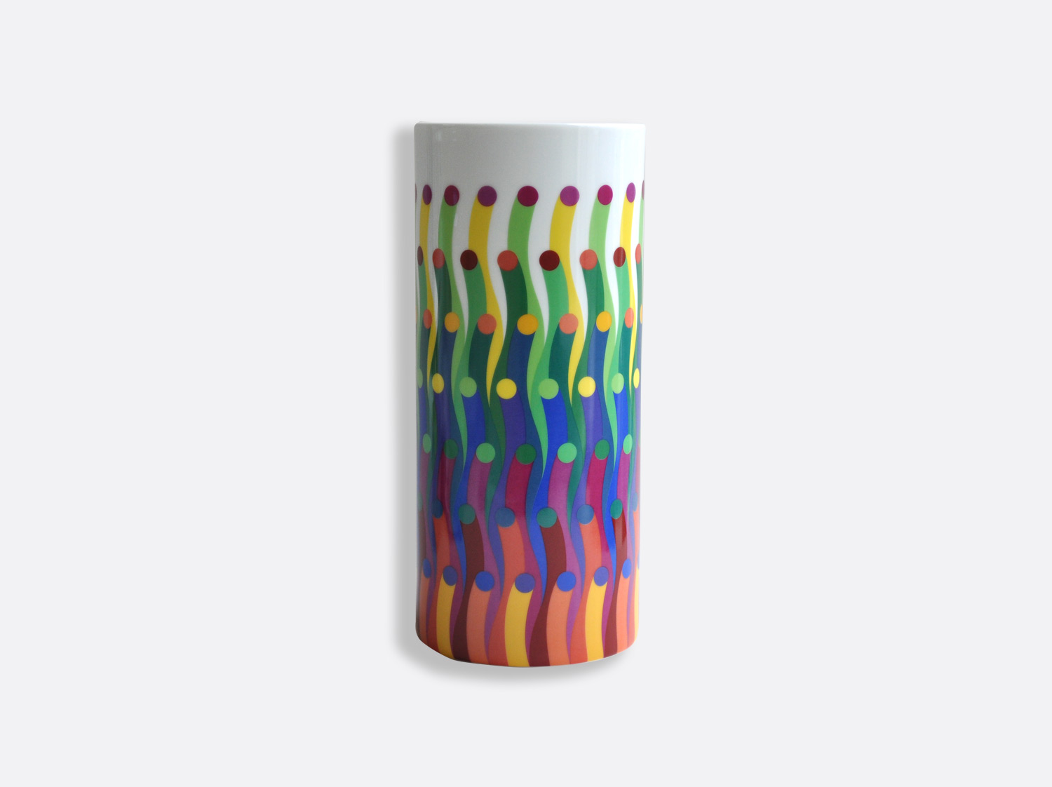 China Tube vase H. 28 cm D. 12 cm of the collection Surface colorée 1702 | Bernardaud