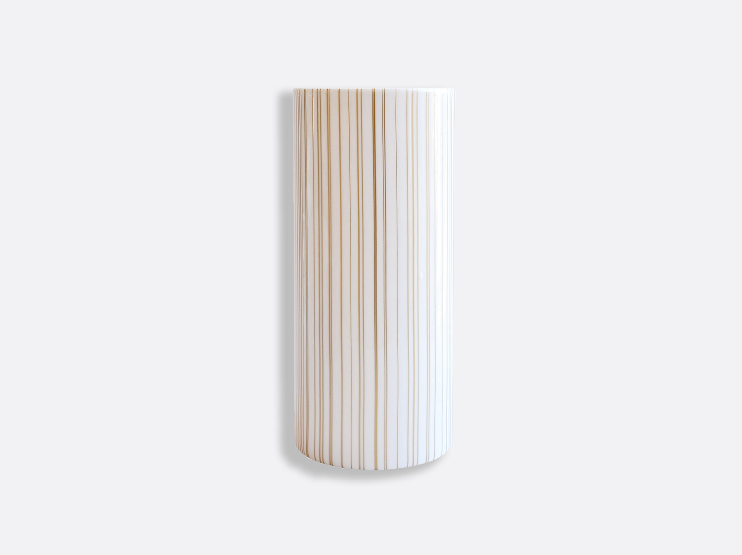 Vase tube H. 28 cm D. 12 cm en porcelaine de la collection Sol Bernardaud