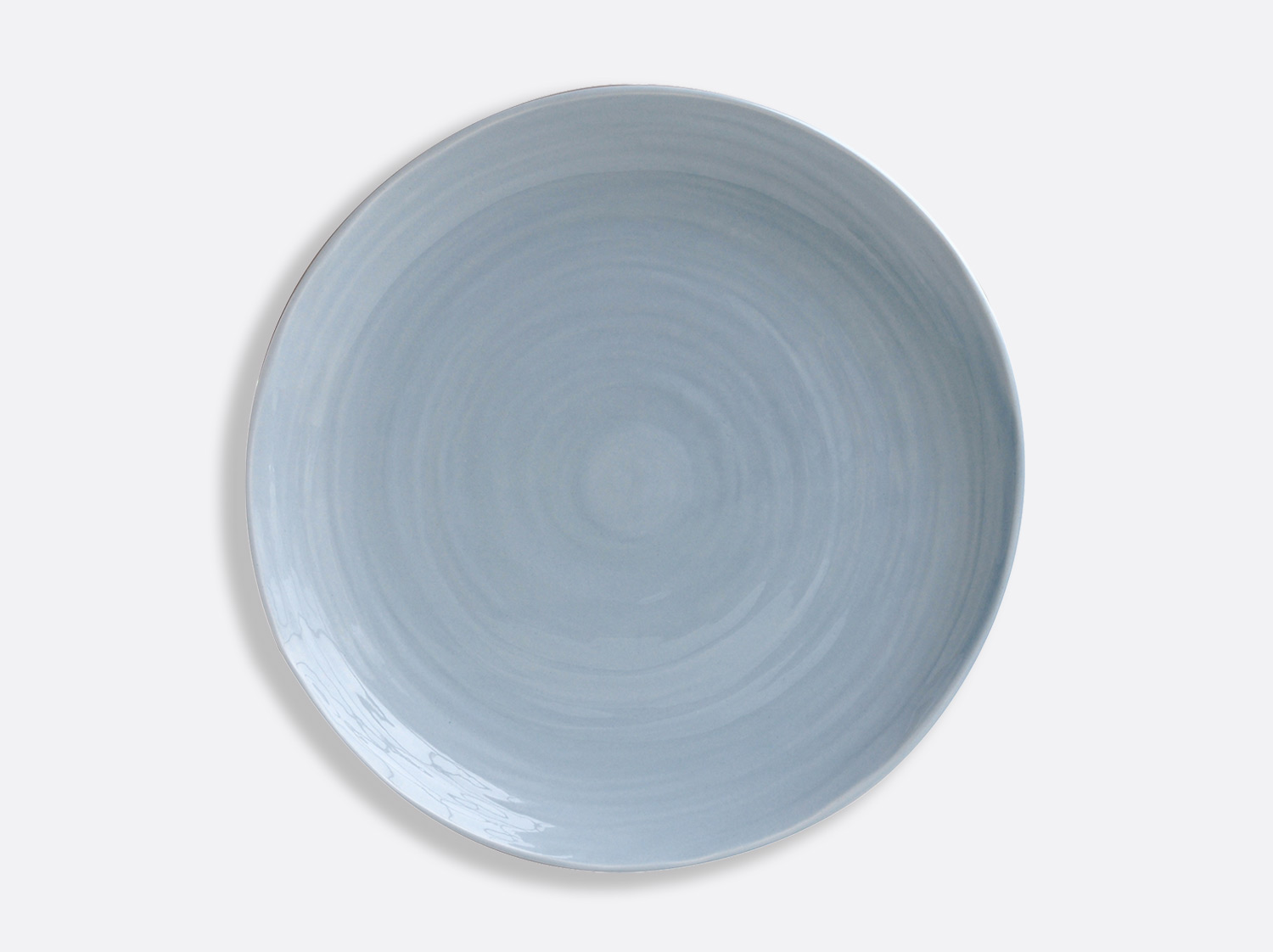 "China Blue plate 12"" of the collection Origine bleu 