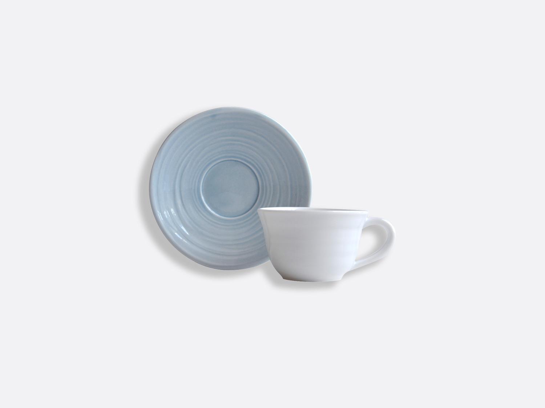 Tasse et soucoupe café Bleu 7 cl en porcelaine de la collection Origine bleu Bernardaud