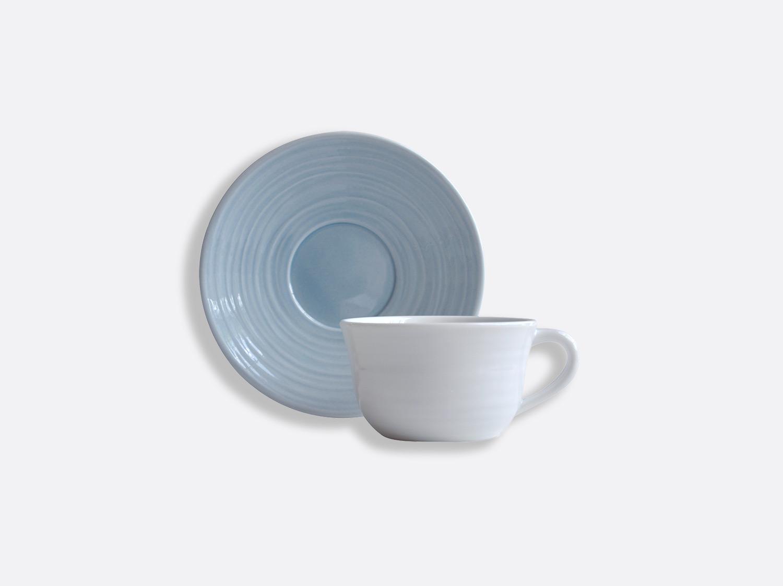 Tasse et soucoupe thé Bleu 20 cl en porcelaine de la collection Origine bleu Bernardaud