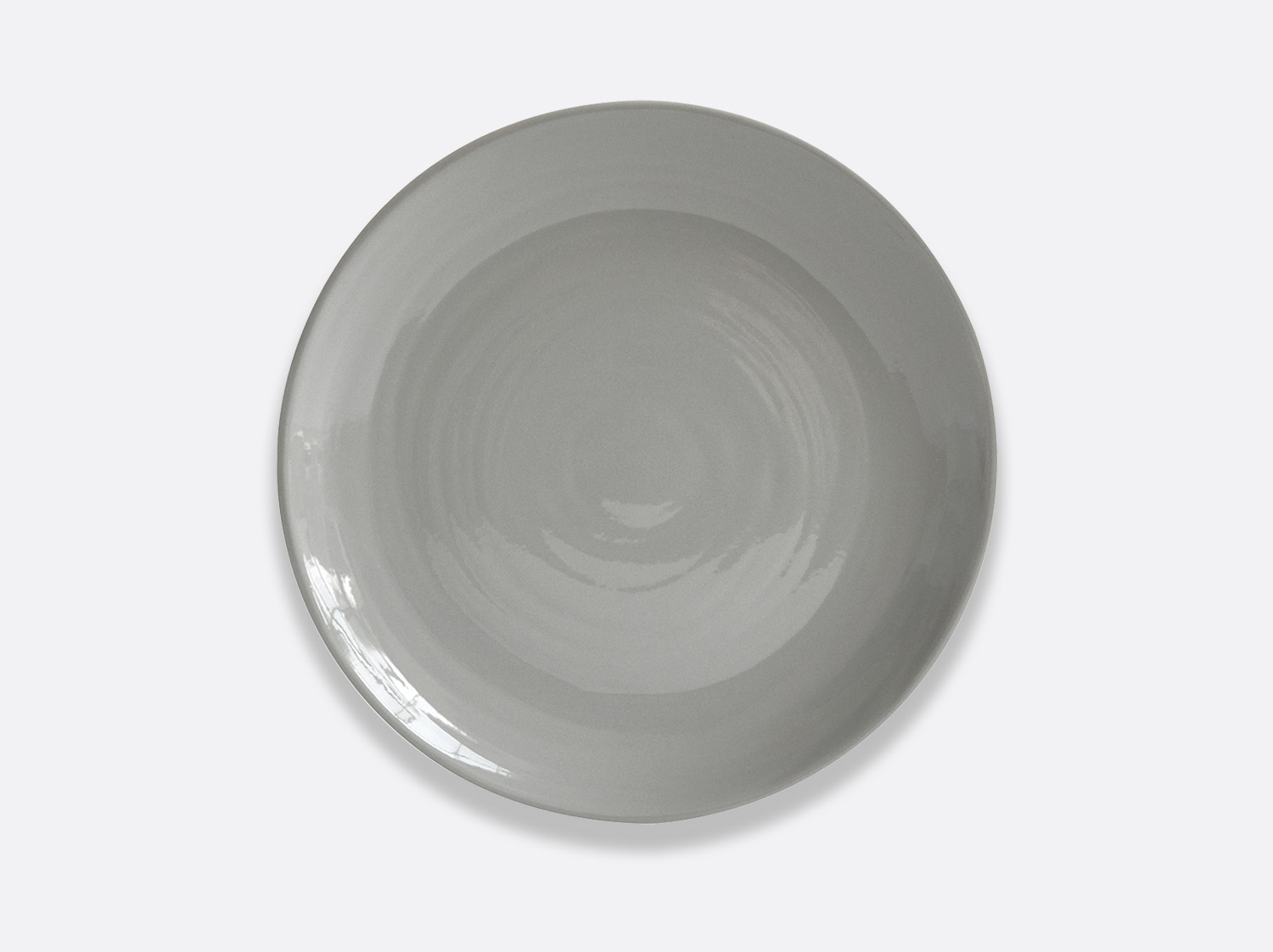 Assiette creuse à pâtes 24 cm en porcelaine de la collection Origine gris Bernardaud