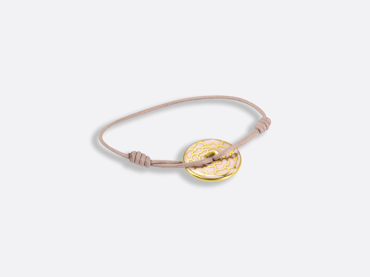 China Talisman bracelet of the collection Gardenia Rose or | Bernardaud