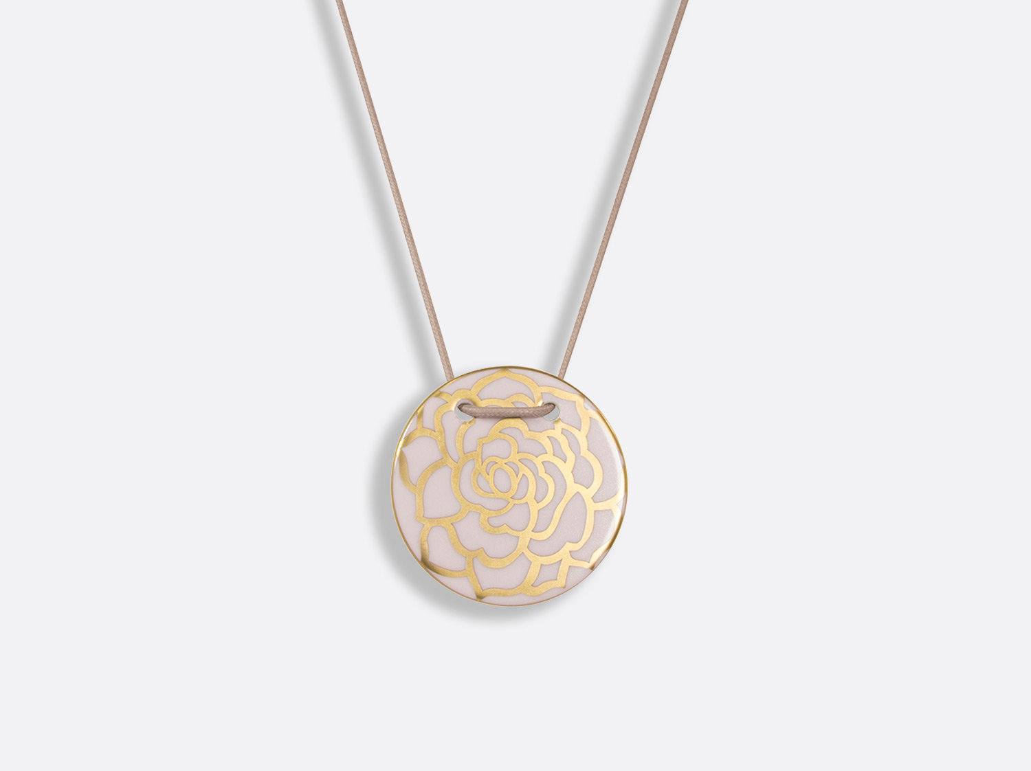 China Gong pendant D. 48 mm of the collection Gardenia Rose or | Bernardaud