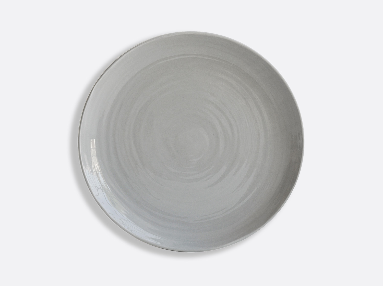Assiette Gris 27 cm en porcelaine de la collection Origine gris Bernardaud