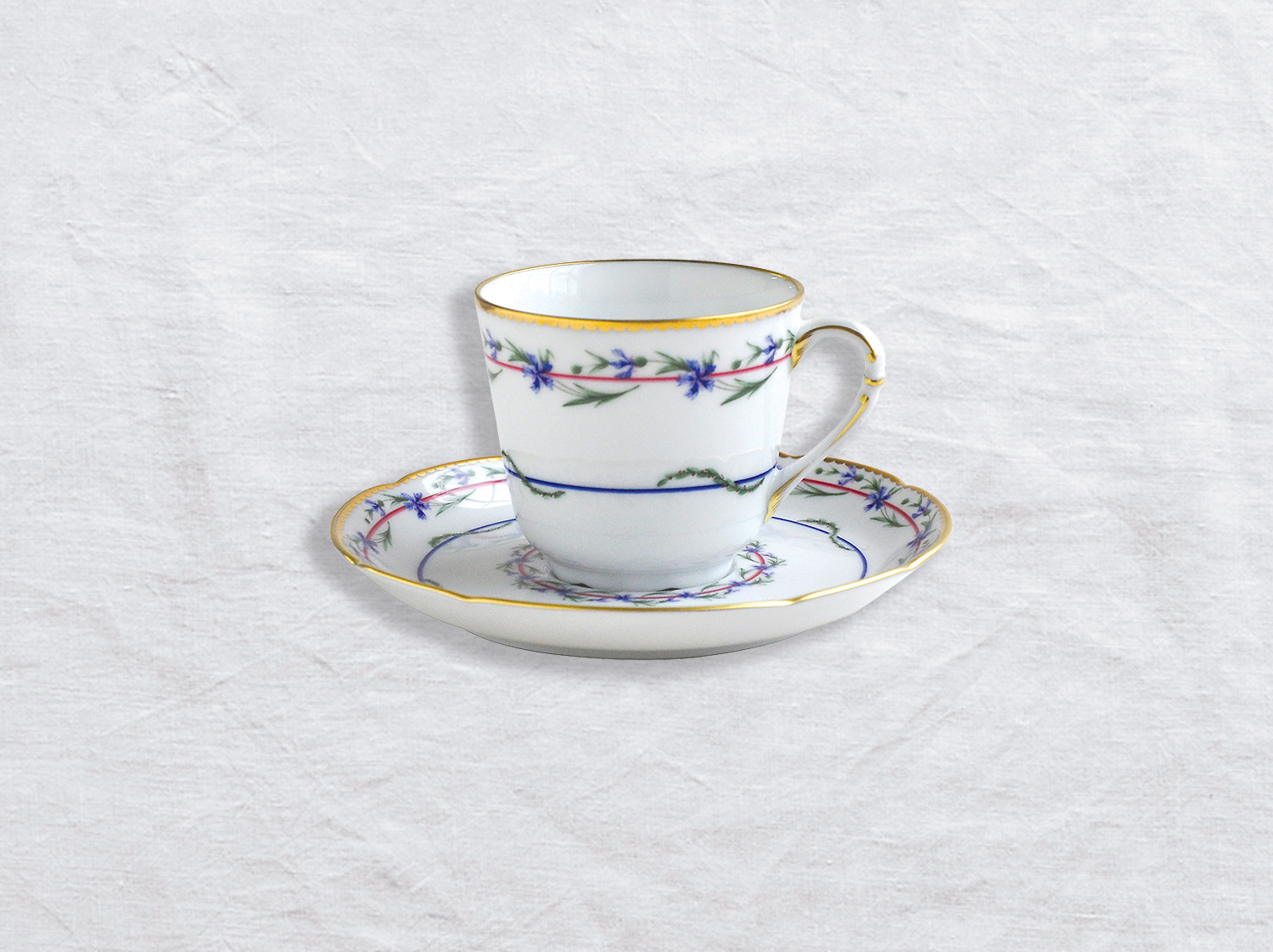 China Coffee cup and saucer 10 cl of the collection Gobelet du roy | Bernardaud
