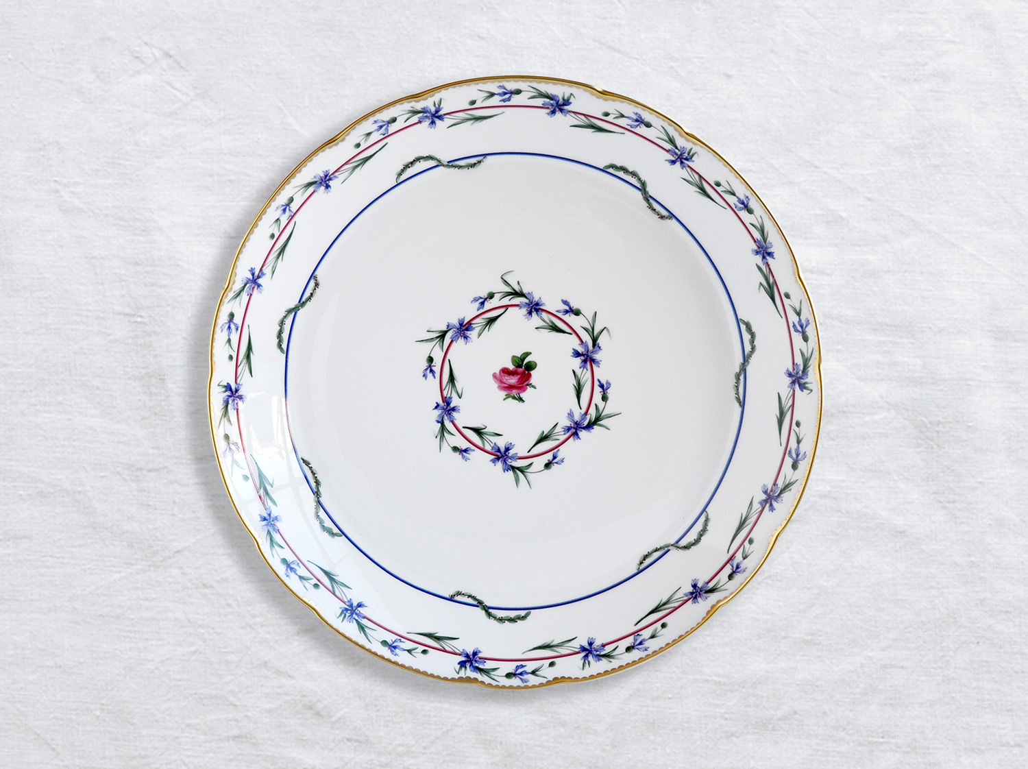 Plat rond creux 29 cm en porcelaine de la collection Gobelet du roy Bernardaud