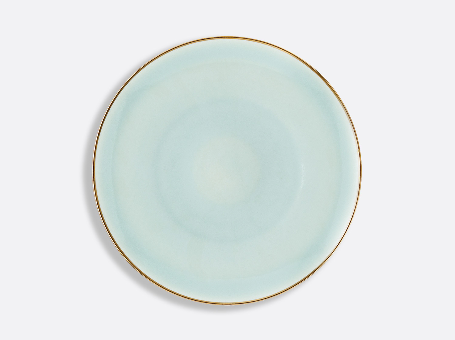 Assiette Domus Celadon Or 27 cm en porcelaine de la collection Celsius Celadon Or Bernardaud