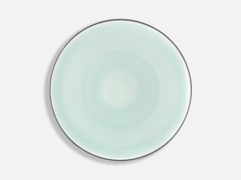 Assiette Domus Celadon Platine 27 cm en porcelaine de la collection Celsius Celadon Platine Bernardaud