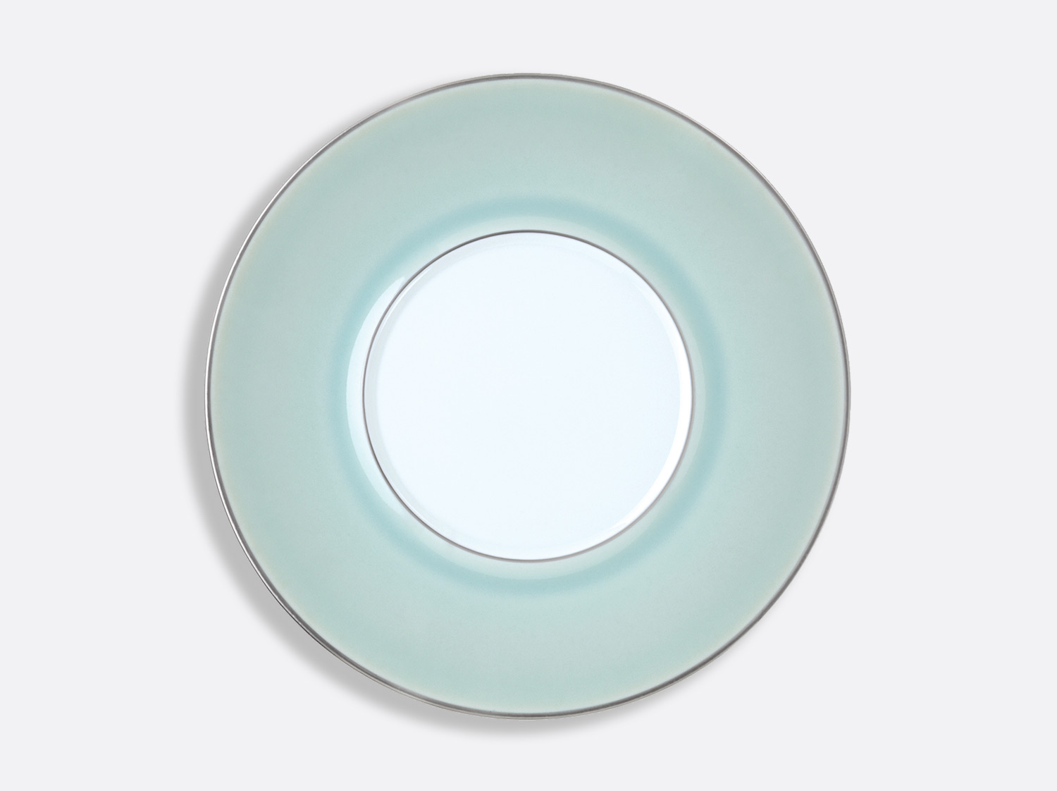 Assiette Shogun Celadon Platine 29,5 cm en porcelaine de la collection Celsius Celadon Platine Bernardaud