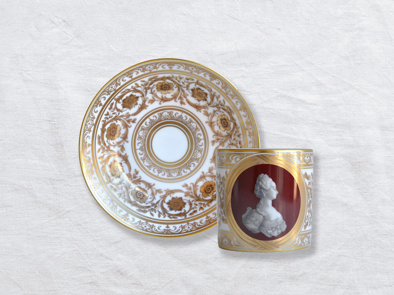 Tasse et soucoupe litron en porcelaine de la collection A LA REINE MARIE-ANTOINETTE Bernardaud